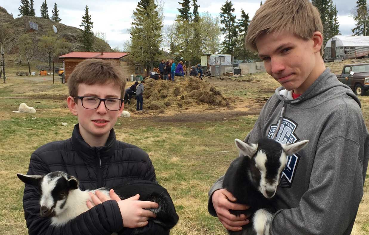 Two-Gr-8-boys,-goat-kids-and-students-on-manure-pile